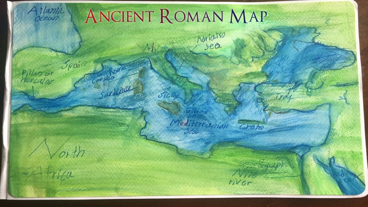 Tutorial: Making Roman Maps with Watercolor Pencils