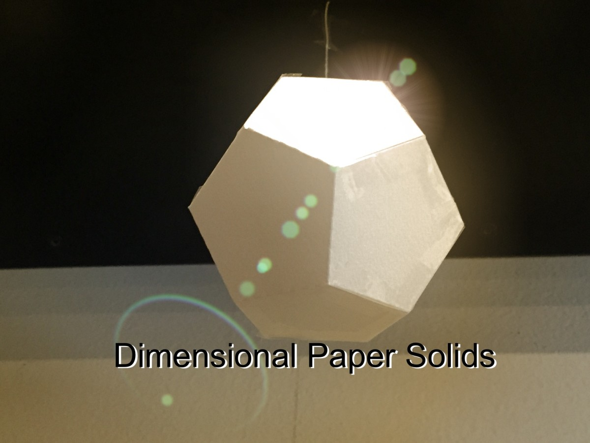 How to Make Three Dimensional Solids from Paper