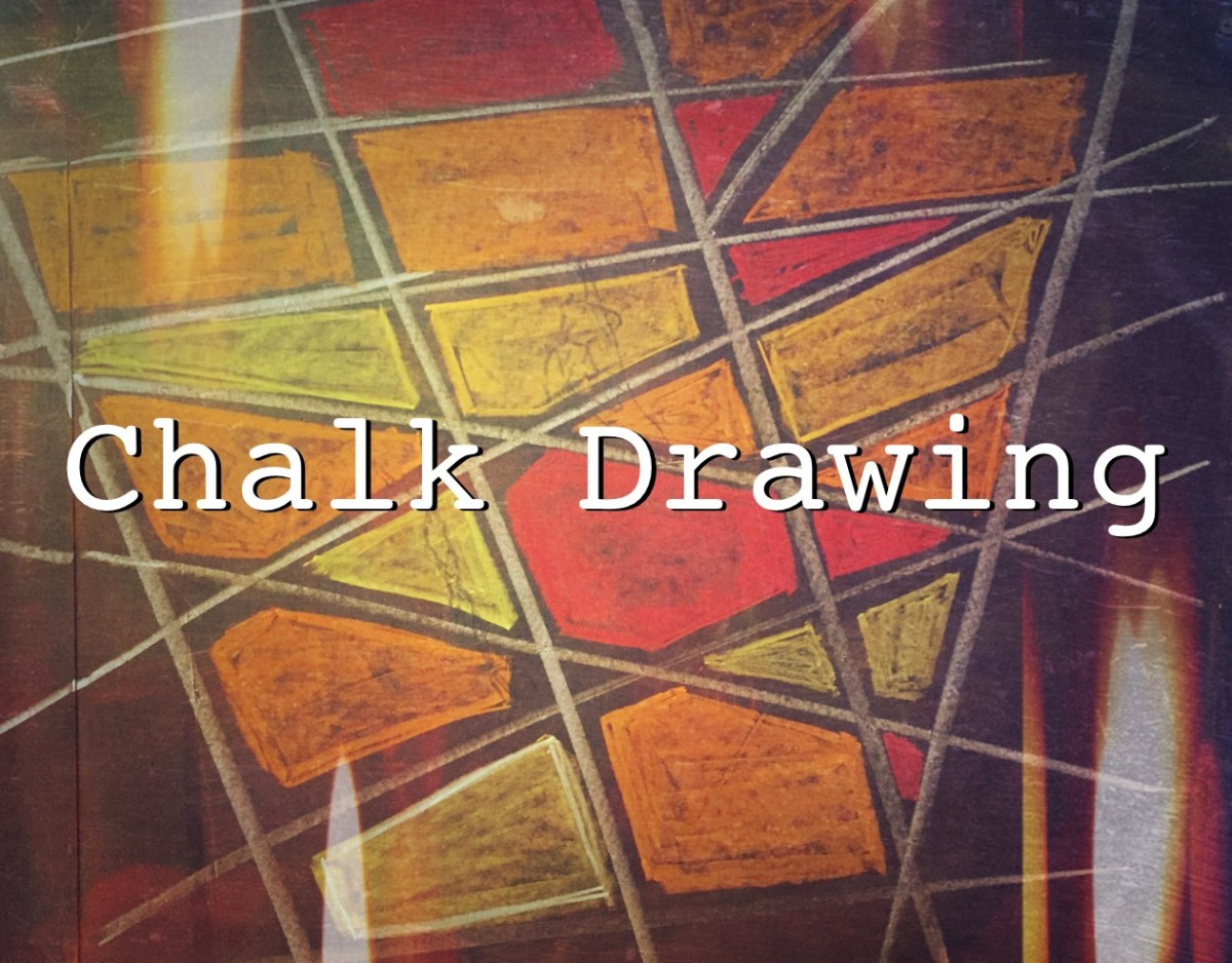 Chalk Drawing: Geometric Shapes