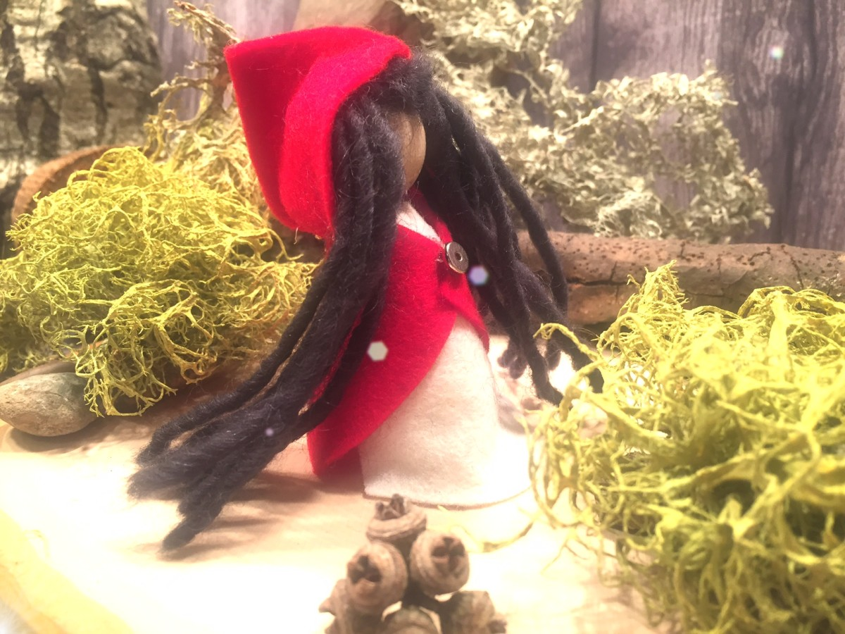 How to Make (another) Little Red Riding Hood Finger Puppet