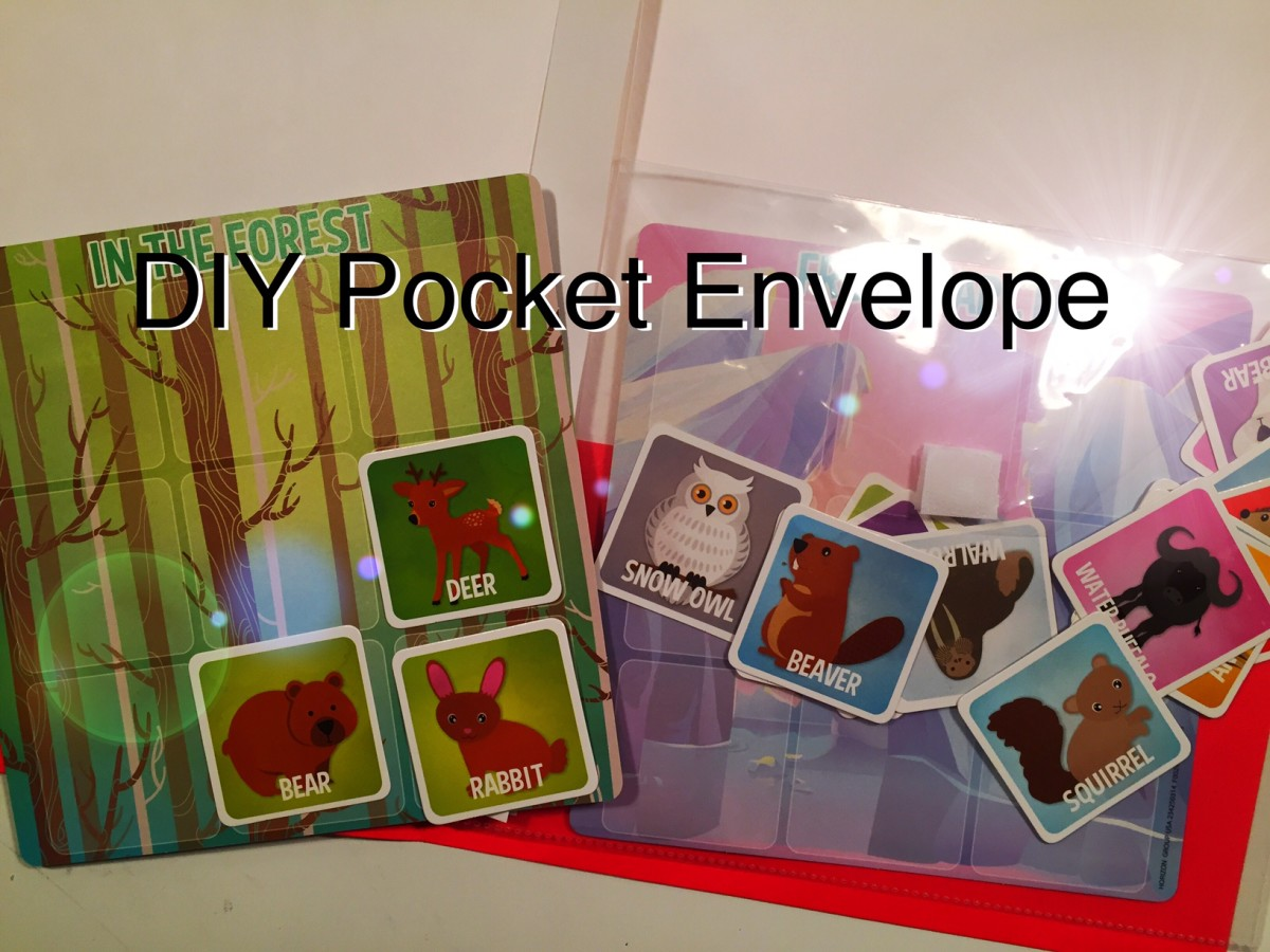 How to Make Pocket Envelopes for File Folder Games| Preschool