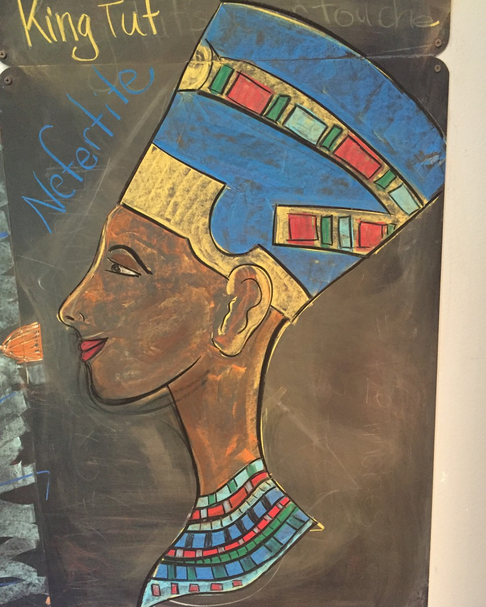 Queen Nefertiti | Chalk Drawing | Ancient Egypt