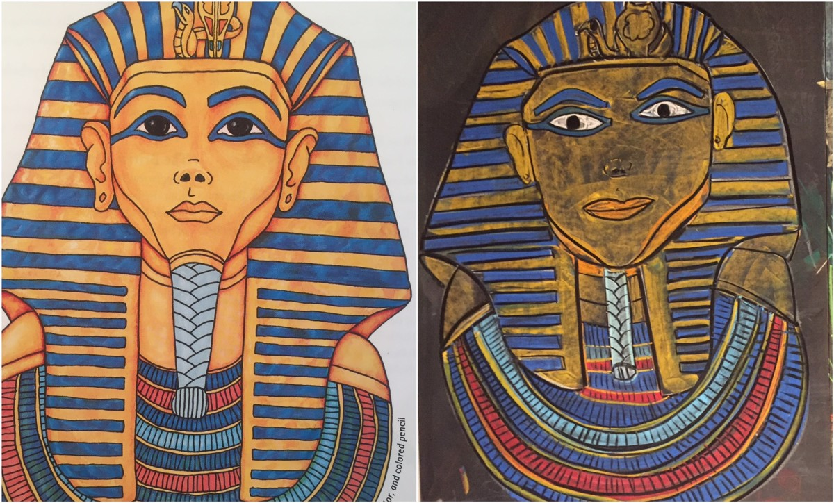 King Tutankhamun (Tut) | Chalk Drawing | Ancient Egypt