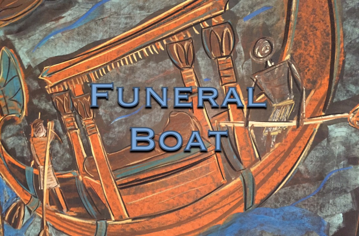 Funeral Boat Ancient Egypt | Chalk Drawing