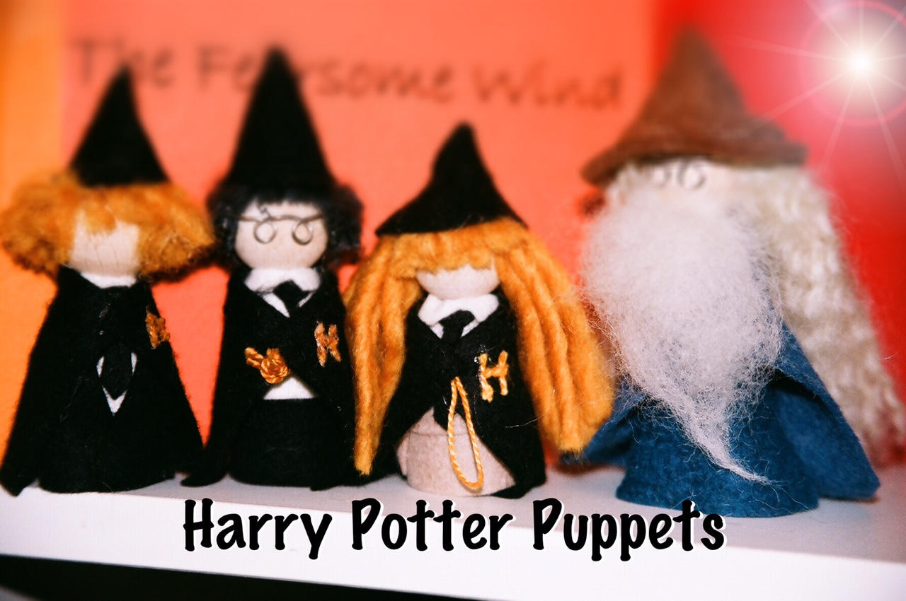 Harry Potter Inspired Finger Puppets