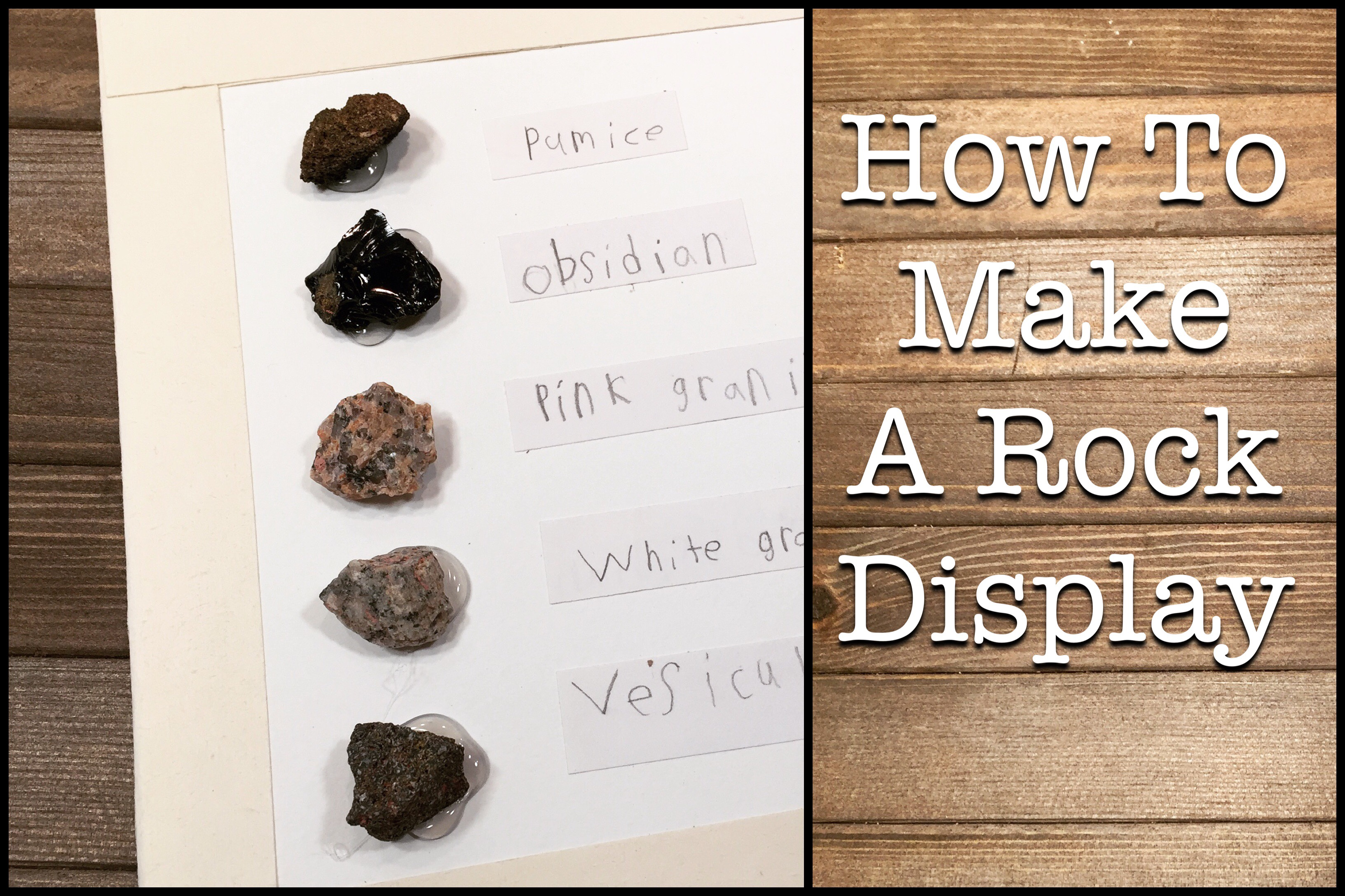 How To Make A Rock Display