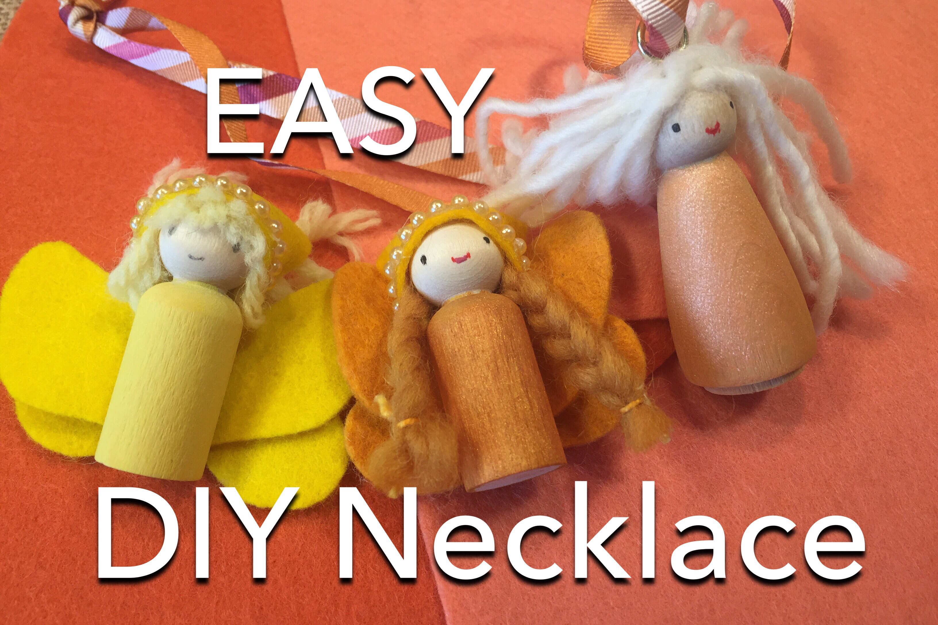 How To Make A Peg Doll Necklace