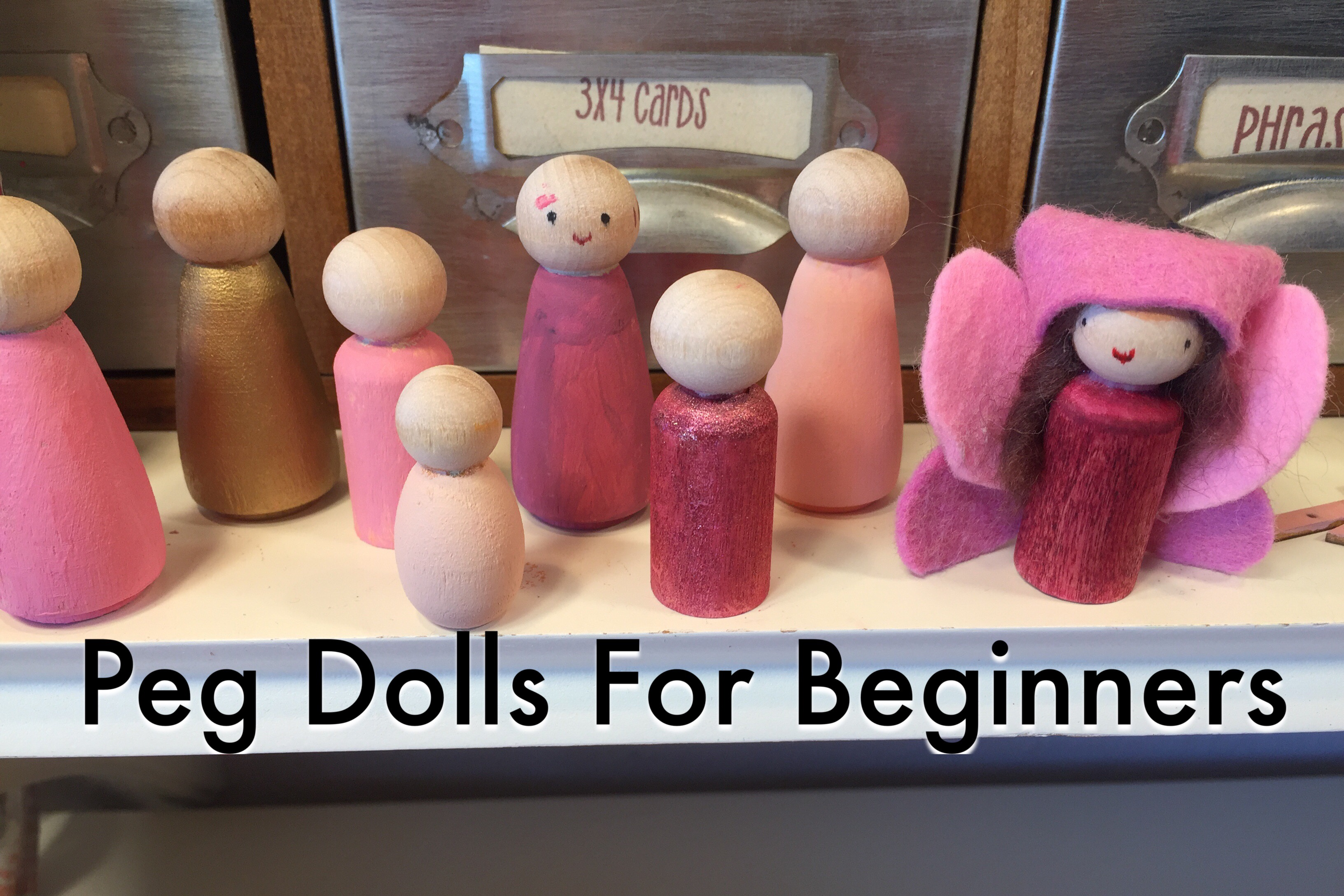 Peg Dolls For Beginners | Hair