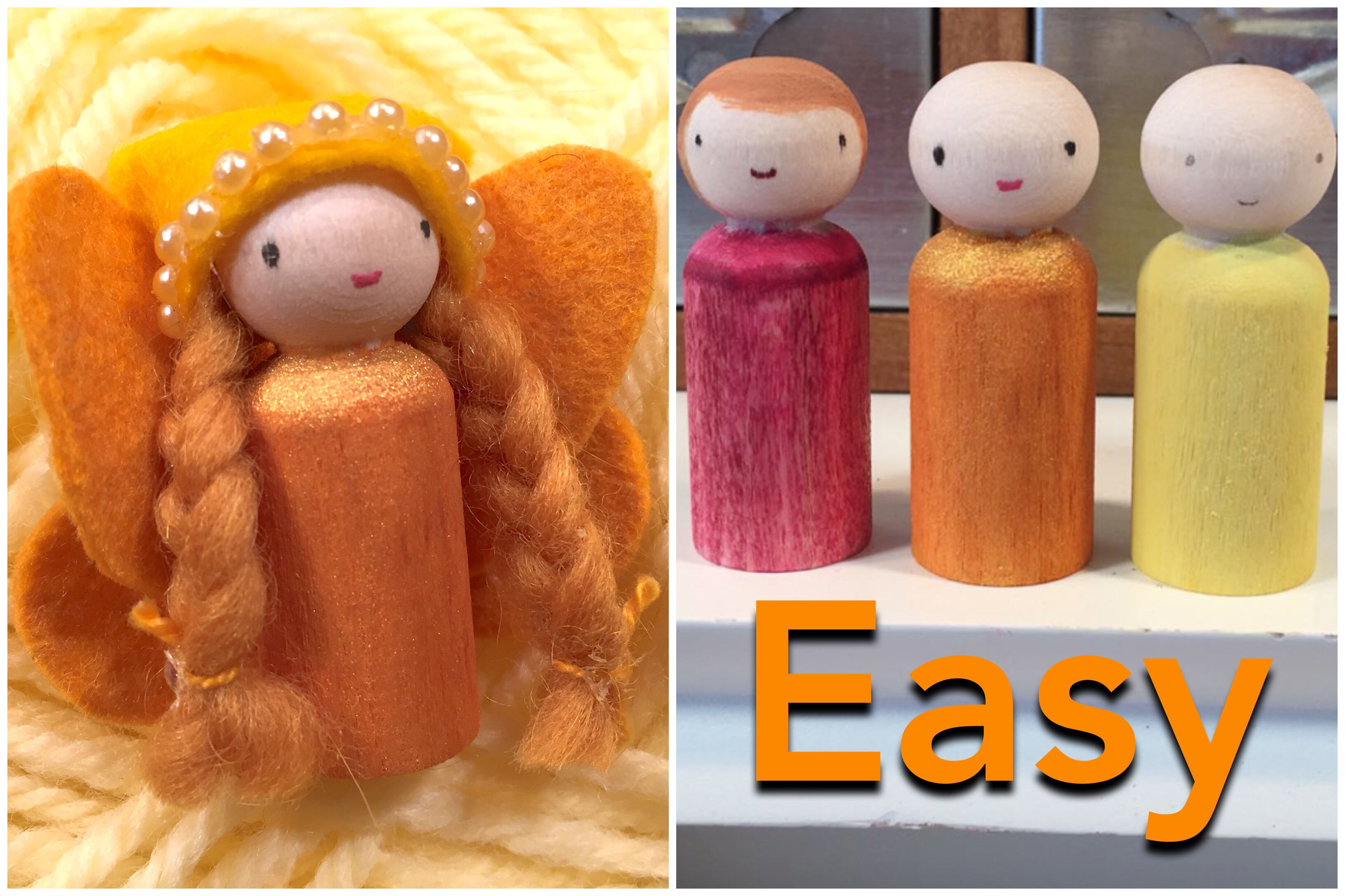 Peg Dolls For Beginners | Paint