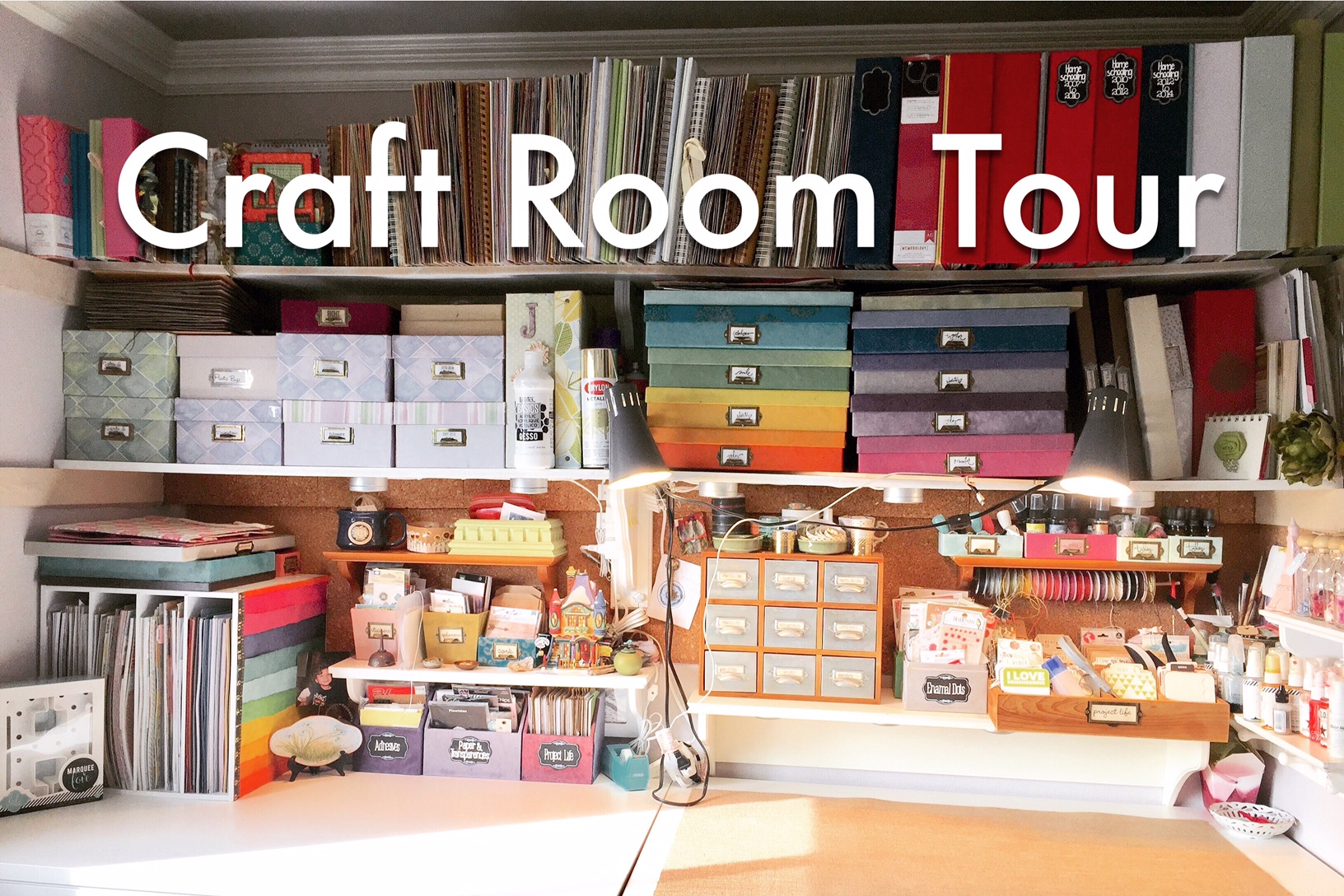 Video Set Up & Craft Room Tour