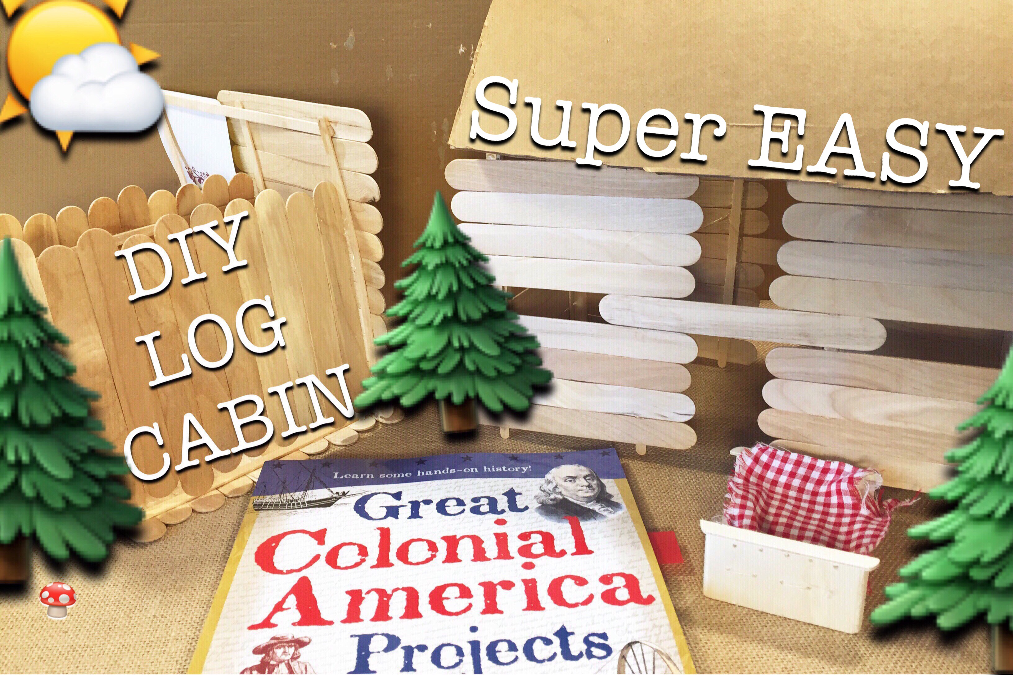 How To Make A Log Cabin | Kid Craft