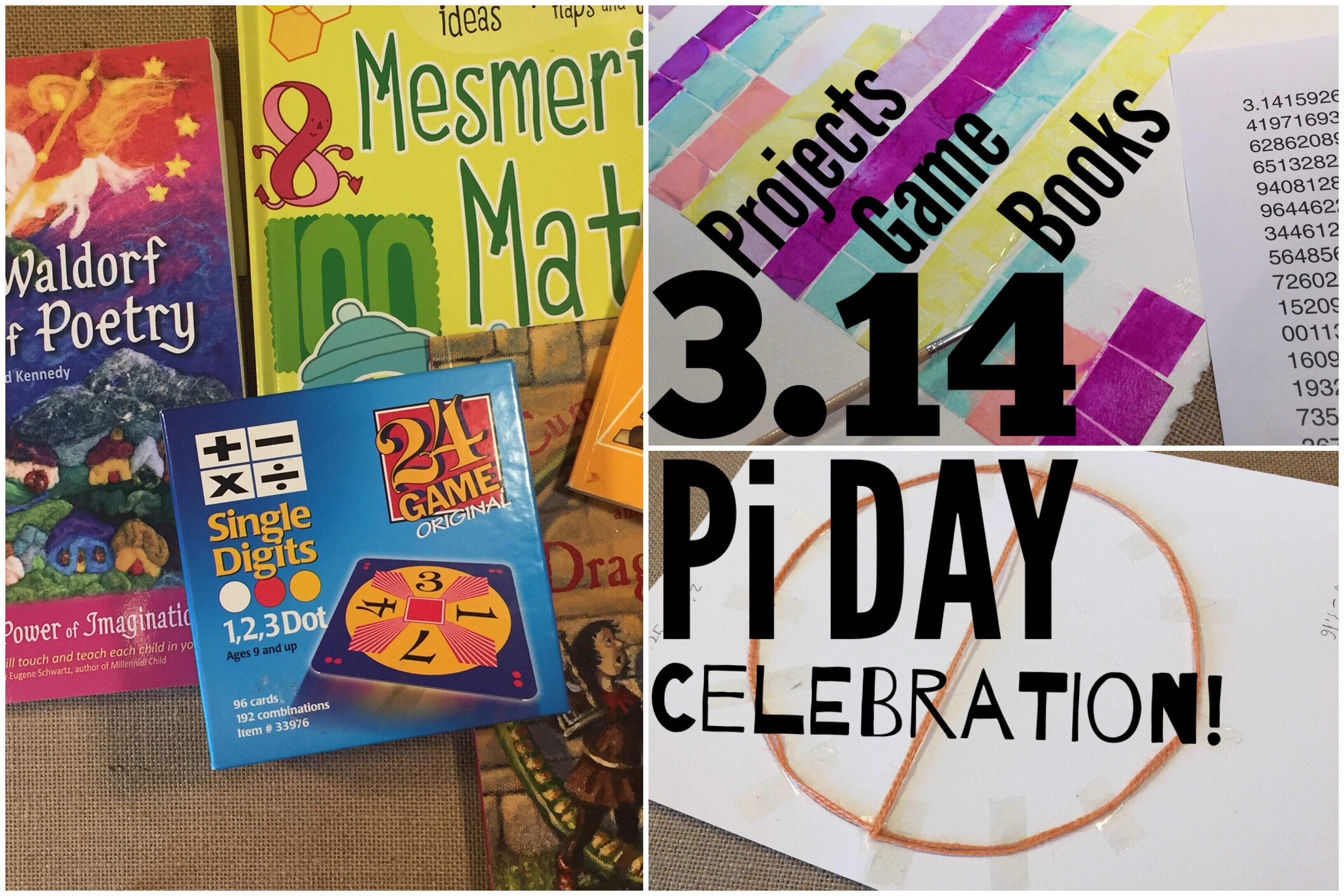 Pi Day Math Books, Activities and Crafts