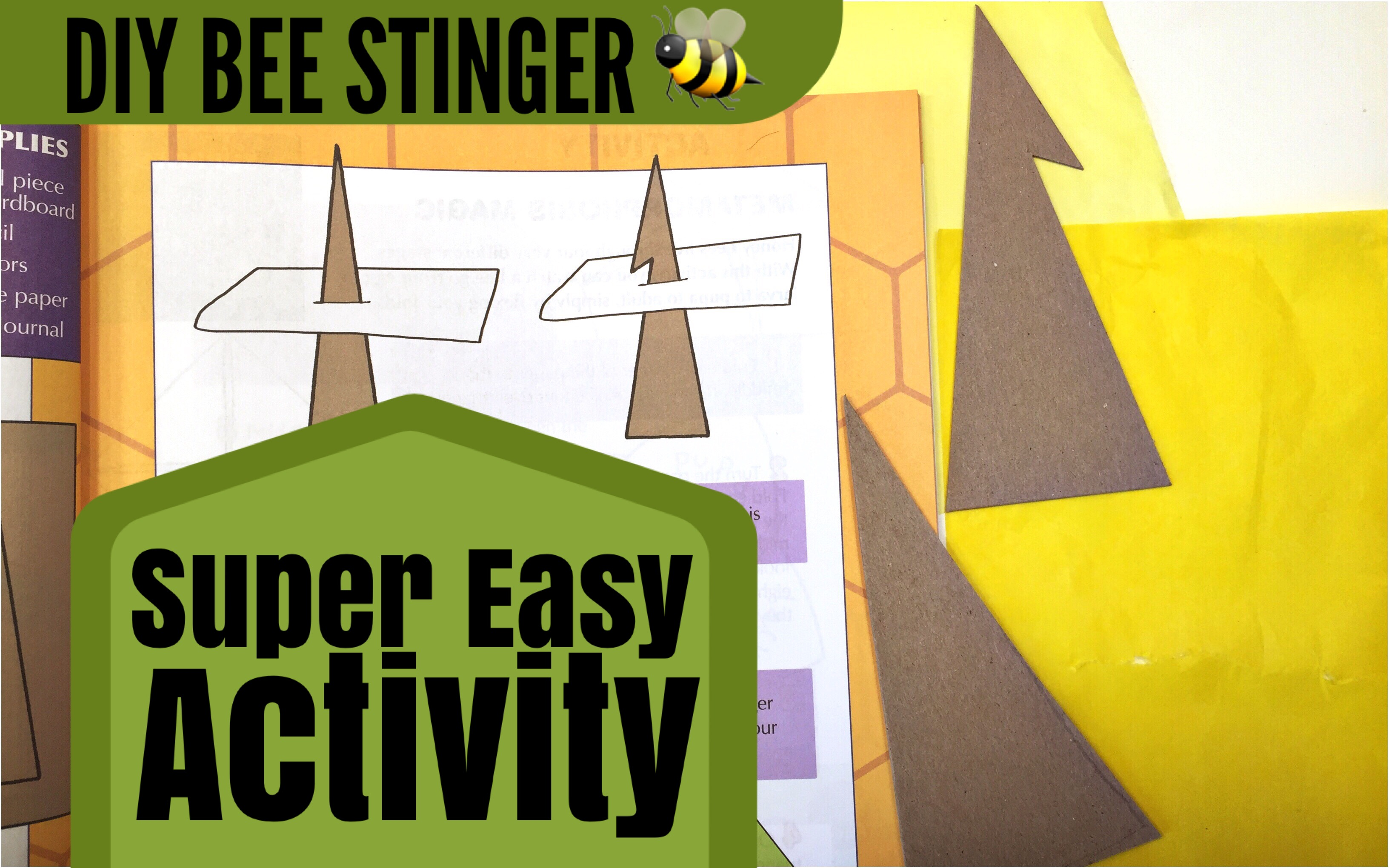 HOW TO MAKE A BEE STINGER | HOMESCHOOL ACTIVITY