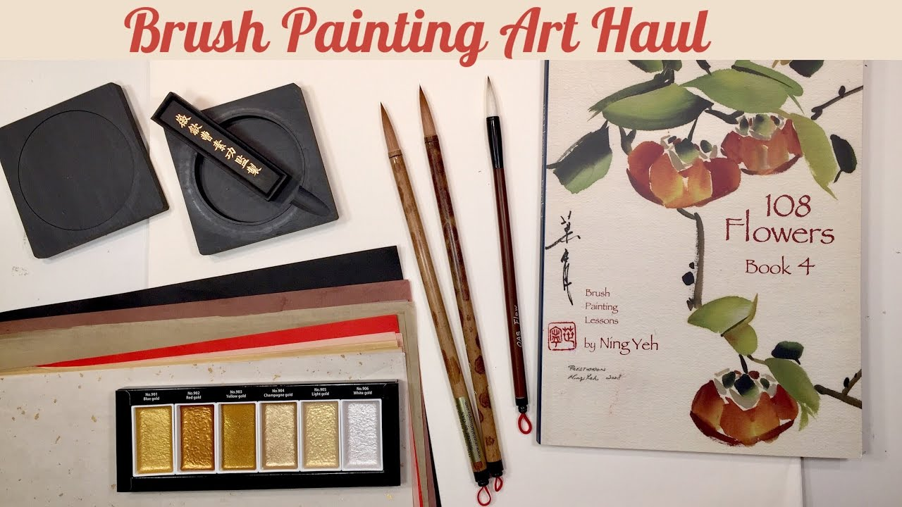 BRUSH LETTERING ART HAUL | CHINESE BRUSH PAINTING, SUMI & CALLIGRAPHY