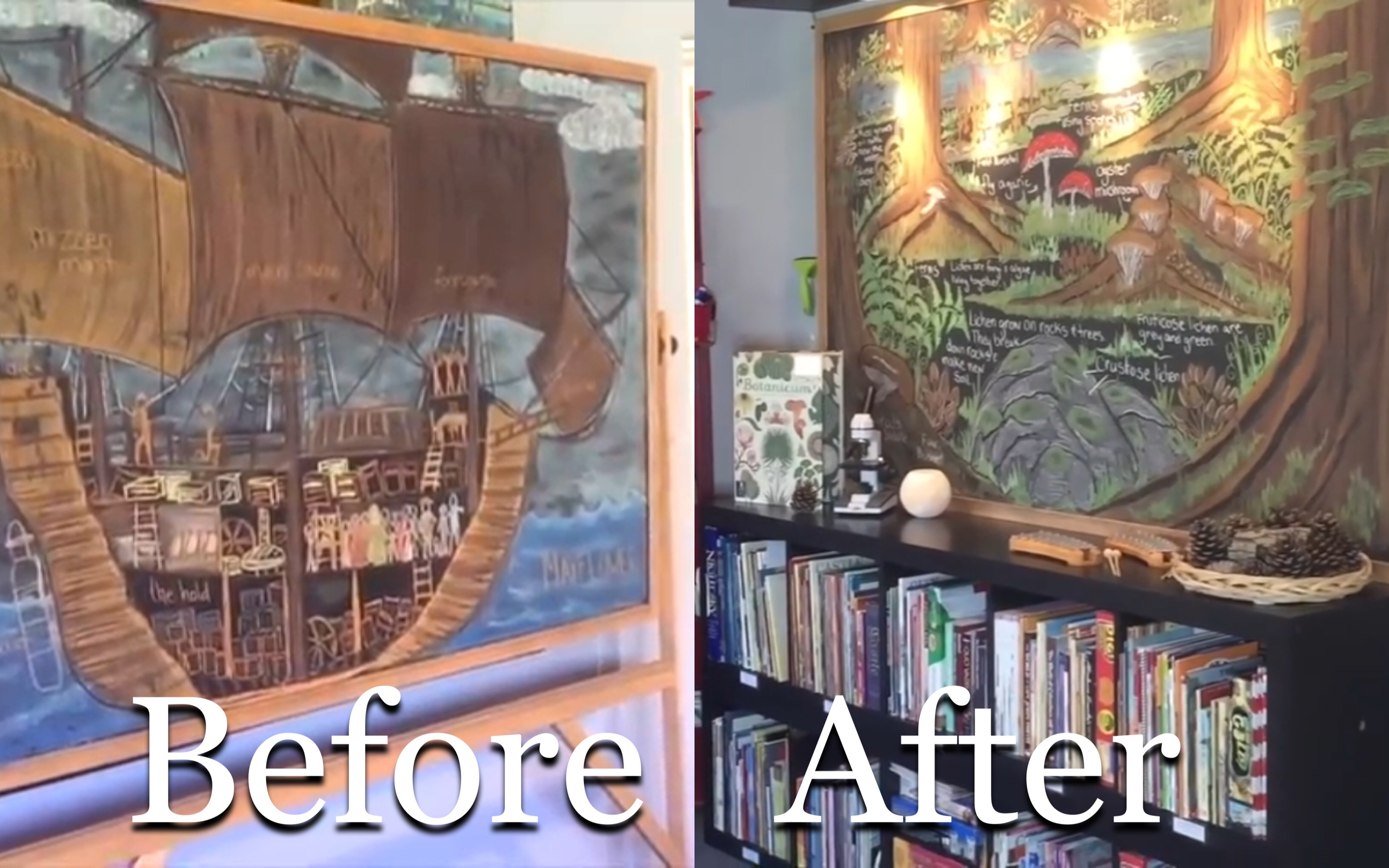BEFORE AND AFTER HOMESCHOOL ROOM