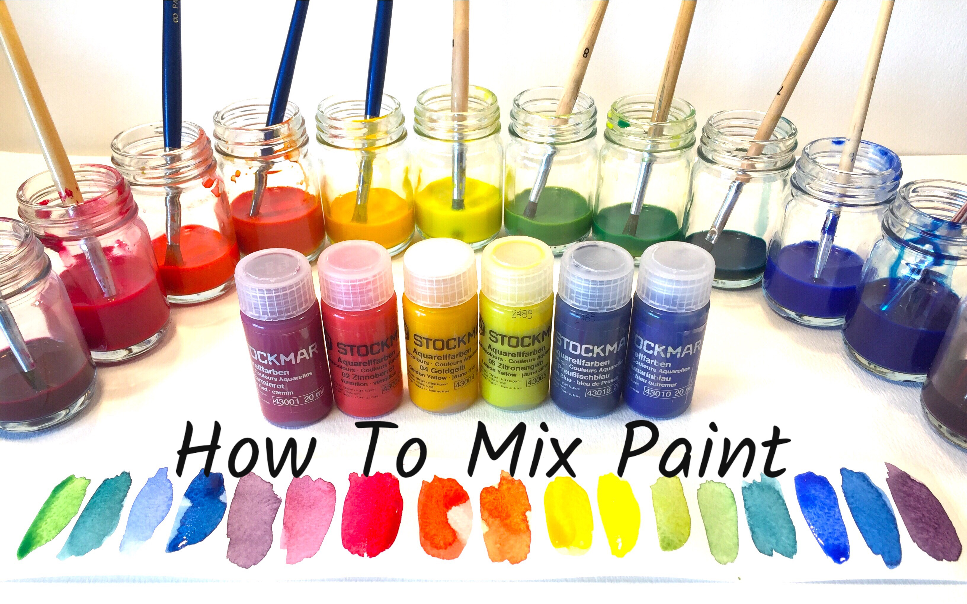 HOW TO MIX WATERCOLOR PAINT