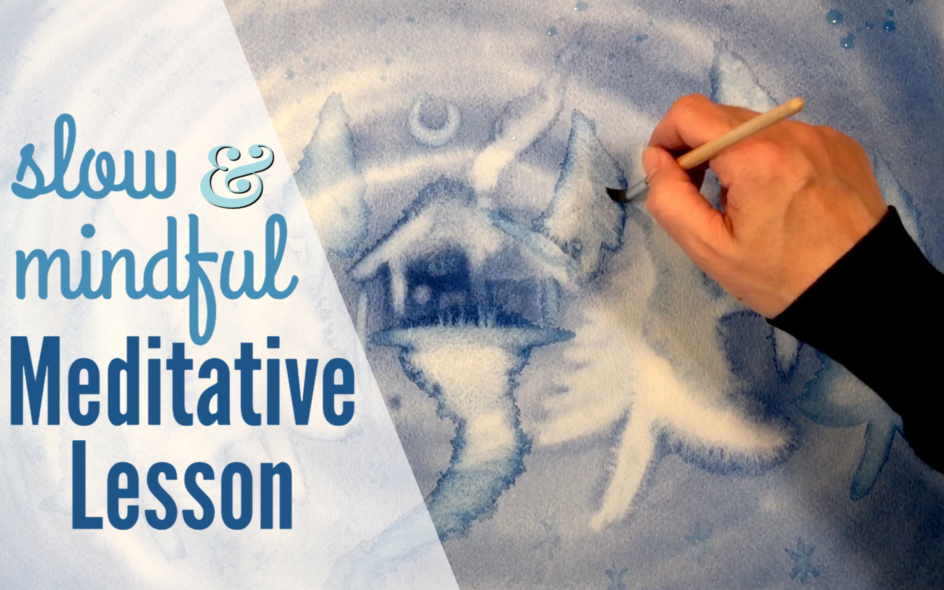 REAL TIME WATERCOLOR LESSON | NEGATIVE SPACE