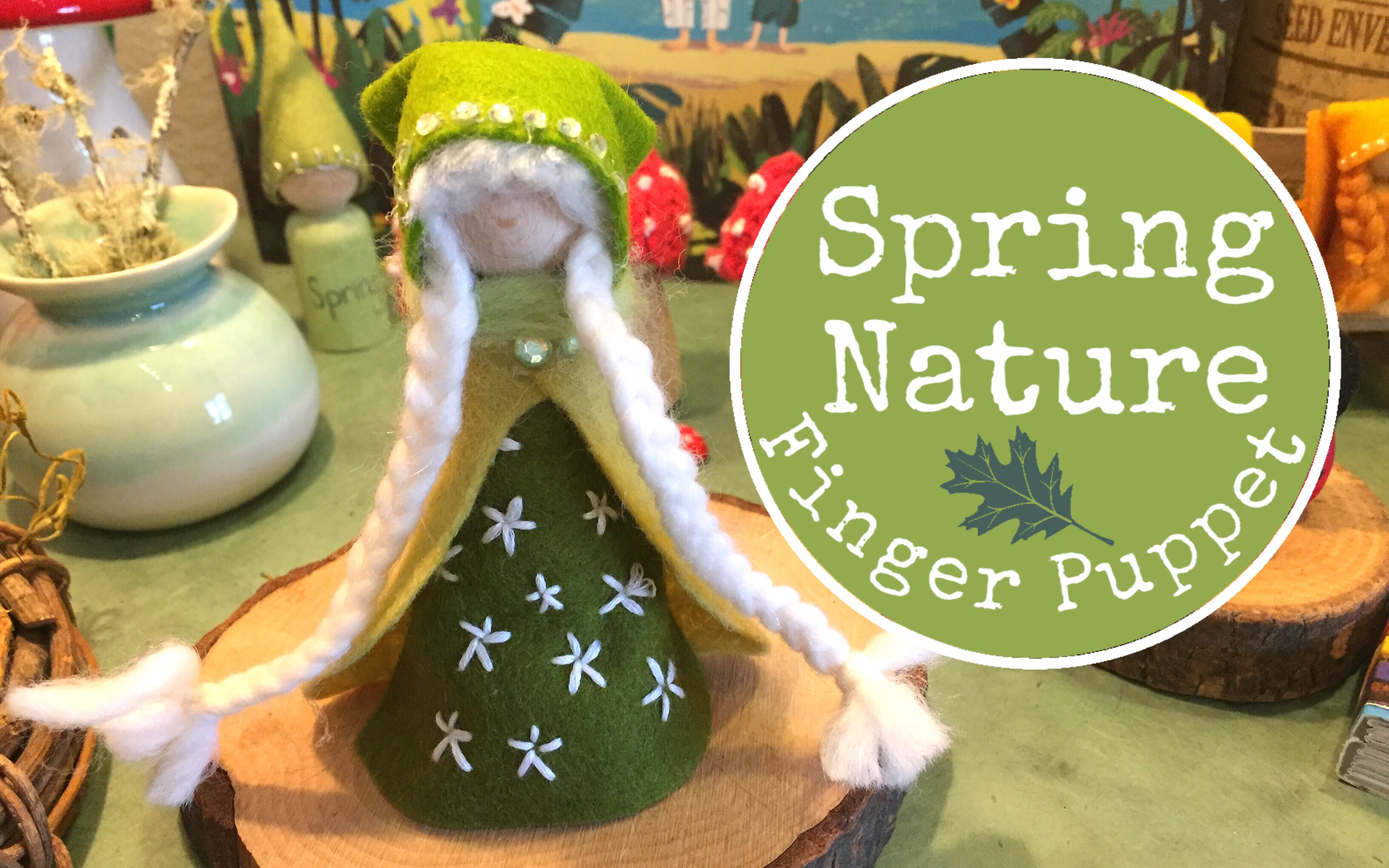 SPRING NATURE FINGER PUPPET | INTERMEDIATE LEVEL