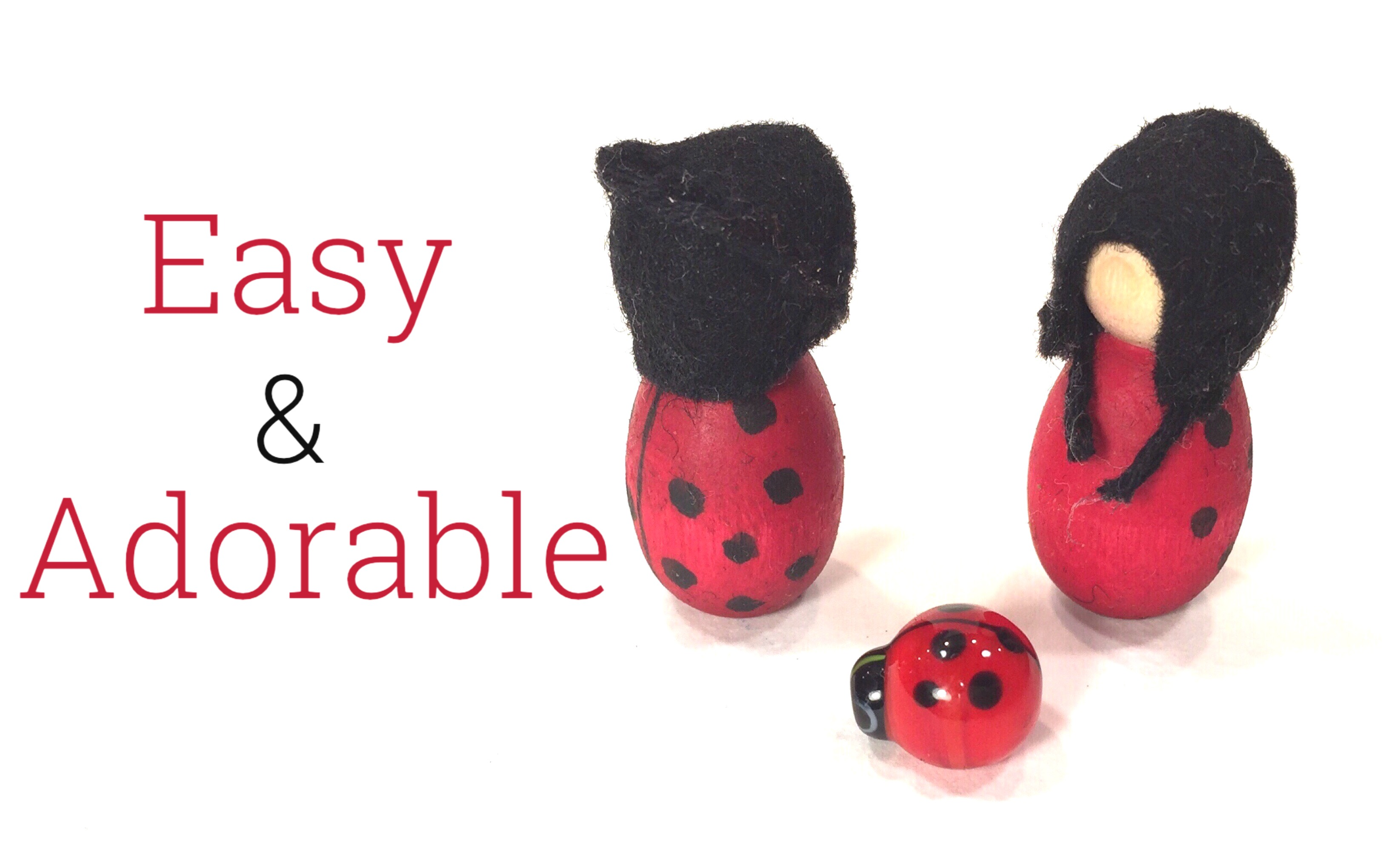 LADYBUG PEG DOLL TUTORIAL FOR BEGINNERS