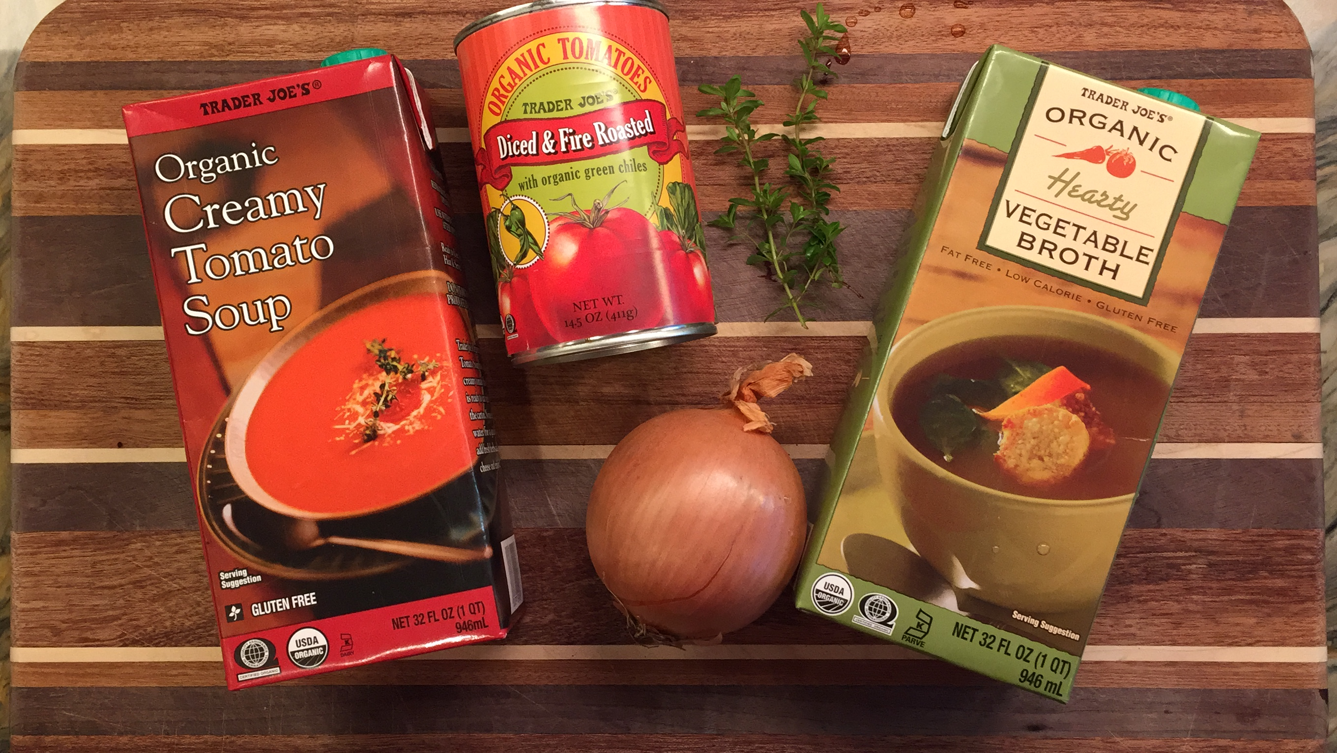 4 INGREDIENT TOMATO SOUP