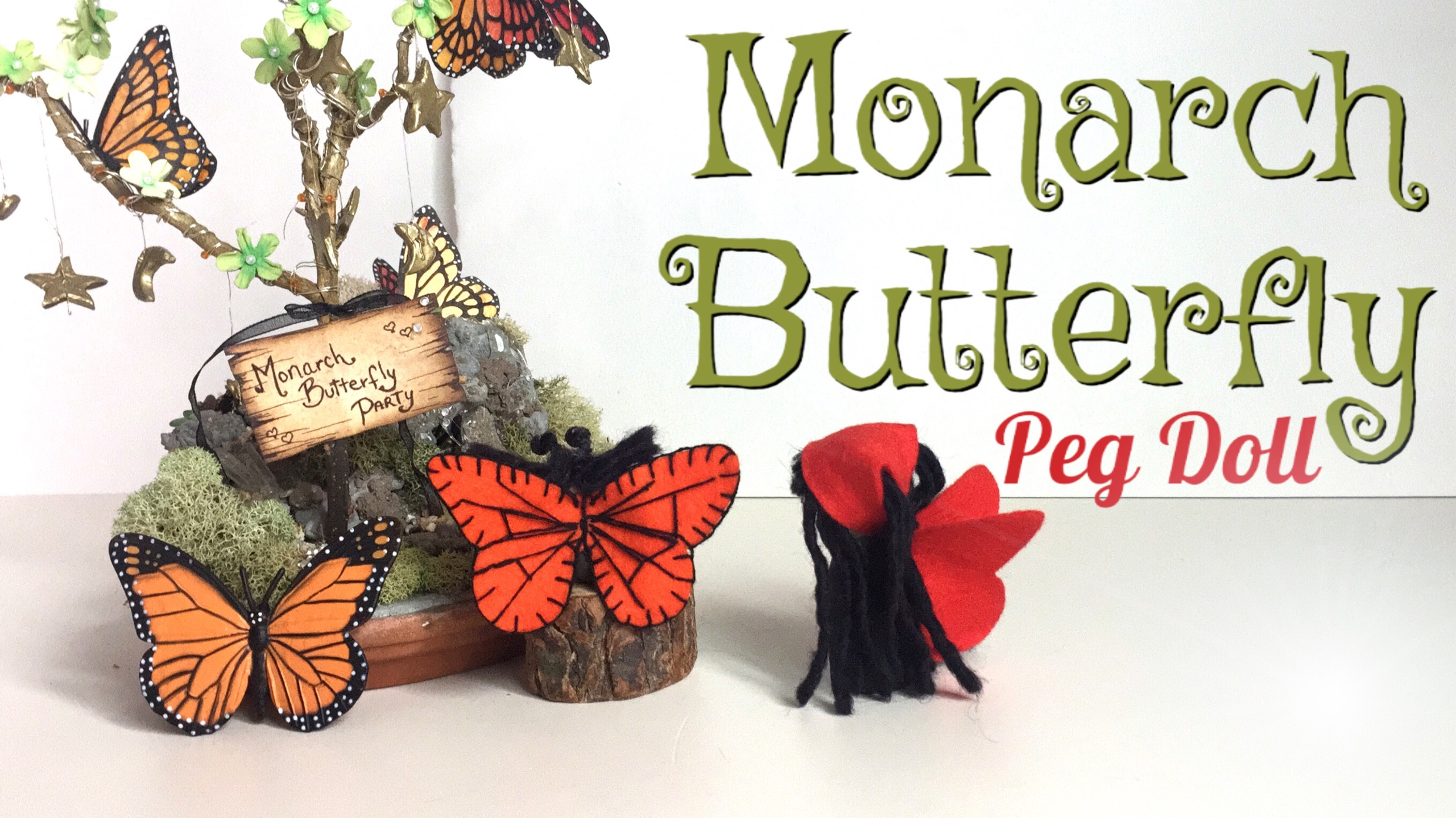 MONARCH BUTTERFLY PEG DOLL