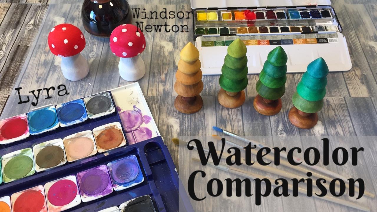 WATERCOLOR COMPARISON | WINSOR NEWTON & LYRA