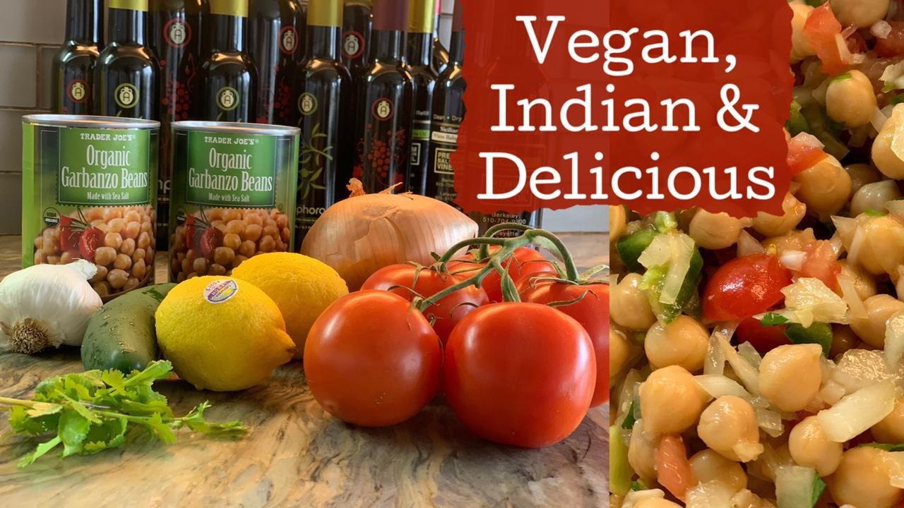 How to Make Indian Garbanzo Bean Salad | Cholay | Chana Chaat